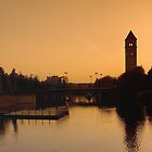 Clock Tower Panorama by Andrew Maisel