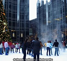 PPG Place in Pittsburgh, PA - Wind Made a Snowy Tornado by BLaskowsky