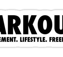 Parkour (Movement. Lifestyle. Freedom.) Sticker