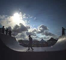 Silhouette of a Skater by KellieBee