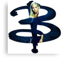 B - Buffy dark Blue Canvas Print