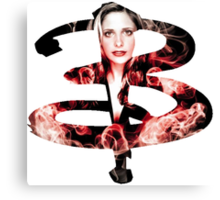 B - Buffy red fire Canvas Print