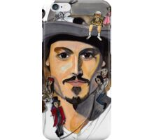 Johnny Depp no back iPhone Case/Skin