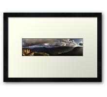 The Three Sisters Echo Point Katoomba The Blue Mountains  HDR Framed Print