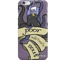 Poor Unfortunate Souls iPhone Case/Skin