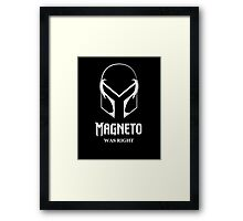 Magneto Was Right Framed Print