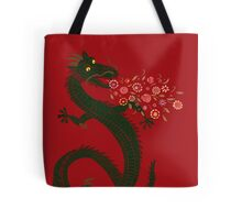 Flower-breathing Dragon Tote Bag