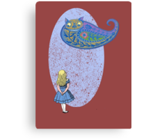 Alice and the Cheshire Paisley Canvas Print