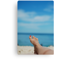 my feet, on holiday Canvas Print