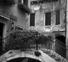 Venetian Alley in BW by ArtistryBySonia