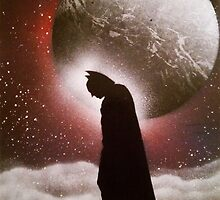 Dark Knight - Space Painting Spray Art by SprayArtByDCP