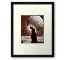 Dark Knight - Space Painting Spray Art Framed Print