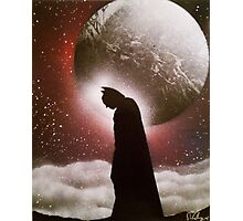 Dark Knight - Space Painting Spray Art Photographic Print