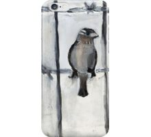 Bird (On A Barbed) Wire iPhone Case/Skin
