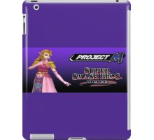 Zelda with Melee and Project M logos iPad Case/Skin