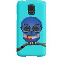 Nerdy Colorado Baby Owl on a Branch Samsung Galaxy Case/Skin
