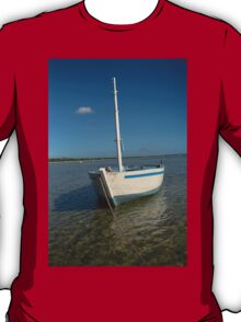 Dhow in the shallow turquoise water T-Shirt