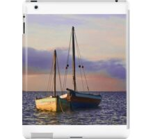 Two dhows on the ocean iPad Case/Skin