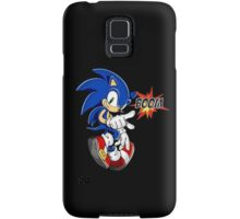 Sonic the boom hedgehog - on black Samsung Galaxy Case/Skin