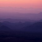 pink and purple dusk by Mark Reed