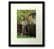 Mill Wheel Framed Print