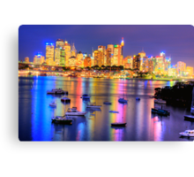 Did Someone  Remember to Turn  Off The Light ? -Moods of A City # 21, Sydney Australia Canvas Print