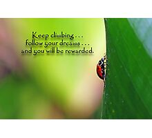 Keep climbing . . . Photographic Print