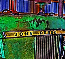 Old Rusty Green John Deere Tractor High Color Contrast Photograph by Adri Turner
