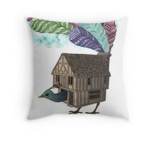 the birdhouse revisited  Throw Pillow