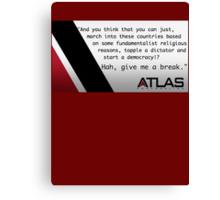 Atlas - Irons' speech on democracy Canvas Print