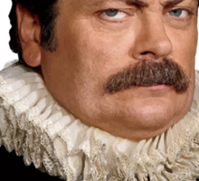 Victorian Ron Swanson - Parks and Rec. Sticker