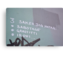 Piece on the East Side Gallery, Berlin Canvas Print