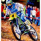 Ron Lechien 1988 Motocross des Nations France by robkinseyart