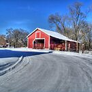 Snow On A Country Road by James Brotherton