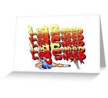 Street Fighter 2:  Leg Sweep Edition Greeting Card