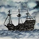 Captain Memo's Pirate Ship Painting Clearwater Florida by derekmccrea