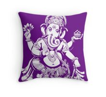 Ganesh designed for dark coloured offset Hoodie Throw Pillow