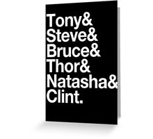 Helvetica- The Avengers Greeting Card