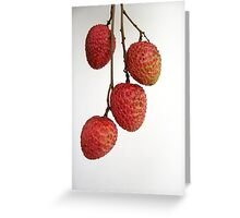Lichi fruit Greeting Card