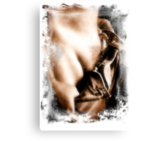 Leather, Metal and Skin Canvas Print
