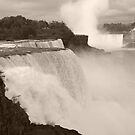 Niagara Falls in Sepia by Donna Sherwood
