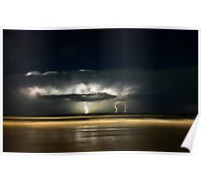 Lights of Surfers Poster