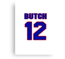National Hockey player Butch Williams jersey 12 Canvas Print