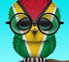 Nerdy Guyanese Baby Owl on a Branch by Jeff Bartels