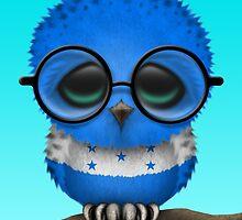 Nerdy Honduran Baby Owl on a Branch by Jeff Bartels
