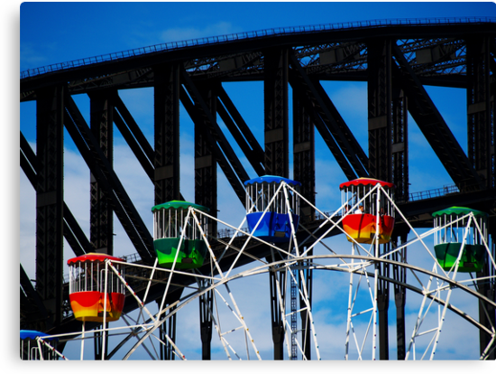 Ferris Wheel and the Bridge by Wanagi Zable-Andrews