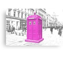 Pink Tardis  Canvas Print