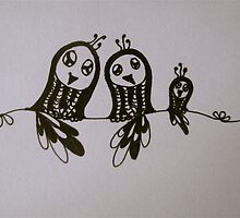 Birds on a Wire by Ingrid Russell