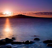 Rangitoto at Dawn by Chris Gin