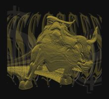 Wall Street Bull T-Shirt Graphic by Lunatic